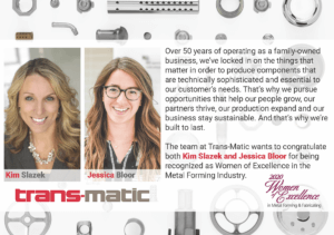 Trans-Matic Women of Excellence in Metal Forming